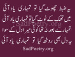 Tumhari Yaad Ayi | 4 Line Poetry