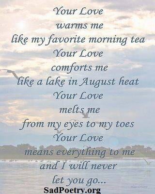 Your love warms me – Love Poems