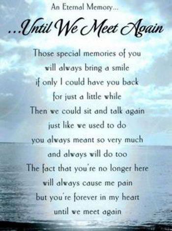 Until We Meet Again | Sad Poetry.org