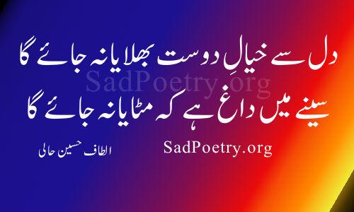 altaf-hussain-hali dost poetry