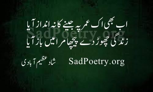 shad azimabadi poetry