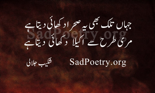 akela poetry tanha