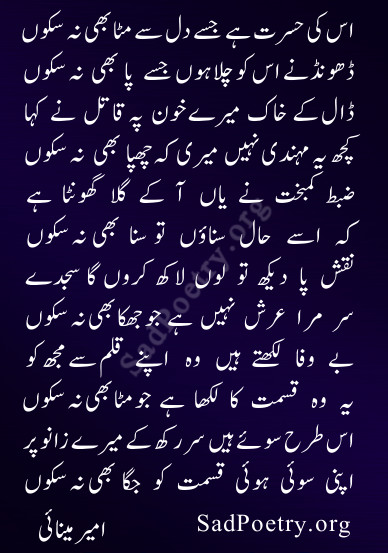 ameer minai ghazal