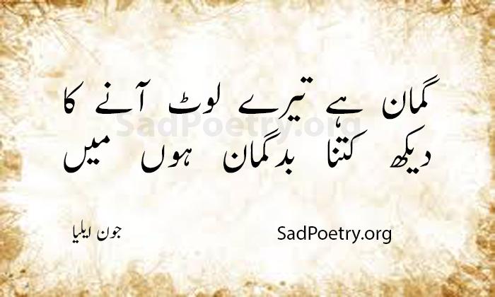 sad poetry jon elia